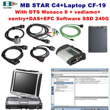 MB STAR C4 obd2 Scanner Professional for Mercedes SD C4+military toughbook cf-19+2017 03 DTS Software SSD car Diagnostic tools