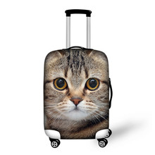 FORUDESIGNS Cats Head Print Cover For 18-30 inch Travel Luggage Cover Dustproof Covers Women Men Stretch Trolley Suitcase Cover