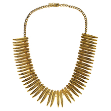 Fashion Retro Exaggerated Metal Feathers Leaves Short Section Choker Necklace National Style Geometric 2017 New Lady Neckl(China)