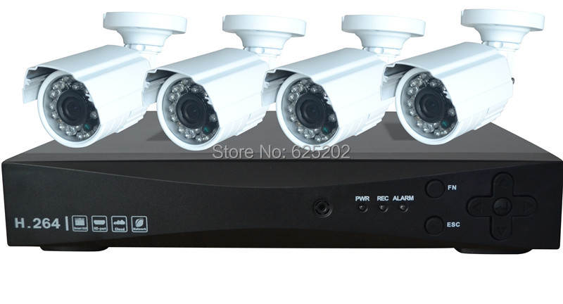 Free Shipping 4CH 720P 1.0MP AHD Camera DVR Kit with 4 Bullet Outdoor Cameras(China (Mainland))