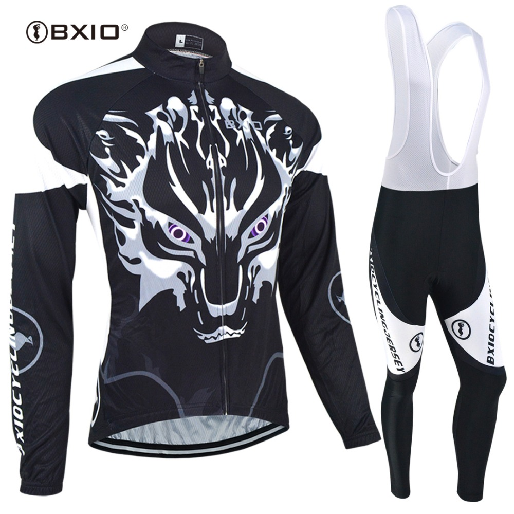 BXIO Winter Thermal Fleece Cycling Jersey Sets/Jacket/Skinsuit Long Sleeve Clothing Bike Bicycle Wear Fabric Ciclismo 005<br>