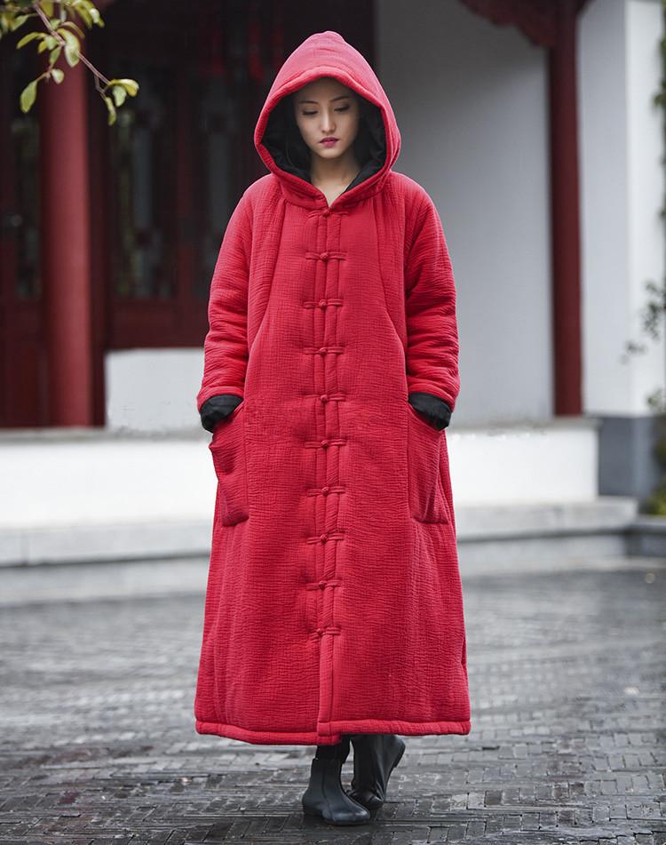 female winter hooded cape (1)