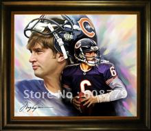 Chicago Bears Cutler Oil Painting(China)