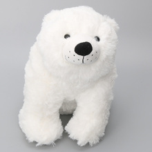 Anime plush doll toys white plush standing polar bear kawaii cartoon Soft plush Toys For Children Room Decoration Doll(China)