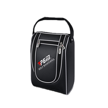 The new multi - functional shoe bag clothing bags golf supplies black and white PU waterproof rivets suture reinforcement