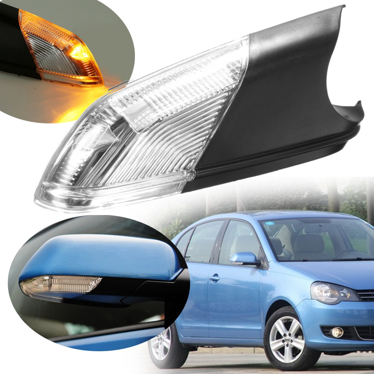 Best Promotion Right Drive Side Wing Rear-view Mirror Turn Signal Light Lamp Led Indicator For VW /Polo /mk4 /FL<br><br>Aliexpress