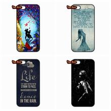 Life Quote Dance in the Rain Slim Cover Case For LG Google Nexus 5 D820 D821 E980 Huawei P6 P7 MINI P8 Lite Honor 3C 6 Mate 8