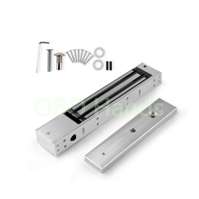 Access Control System 280KG (600LB) Holding Force DC 12V Electric/Electromagnetic Magnetic Locks With LED Light For Single Door<br>