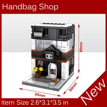 Mini Street View Building Block Compatible With Legoes City Toys Handbag Shop