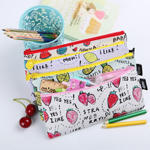 Buy 1PC Fruit Pattern Pencil Bag Students Fresh Waterproof PU Leather Pencil Cases Stationery Material Escolar Office Supplies for $1.26 in AliExpress store