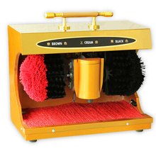 Automatic Induction Shoe Shine Machine Home Public Electric Rubbing Shoes Machine Earthly Gold with Handle(China)