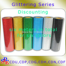 "20""x6yards Iron On Glitter Heat Transfer Vinyl Printing Total Six Meters(China)"