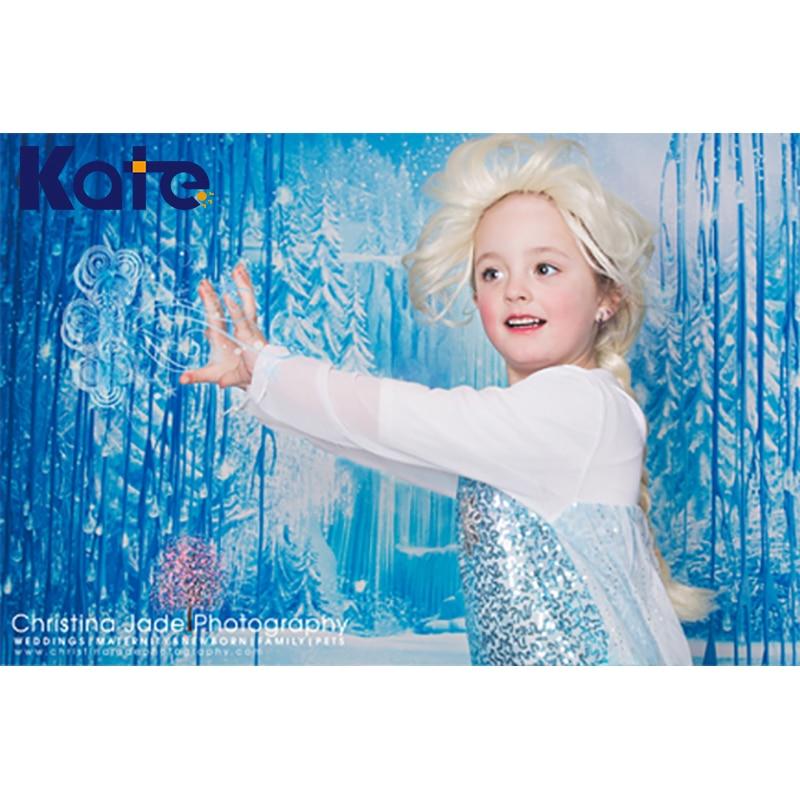 150X220CM Kate Frozen Snow Magic Kingdom Children Photography Backdrops Winter Photographic Studio Background  for Children<br>