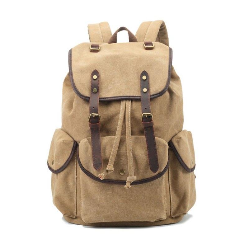 OZUKO 2017 Men Canvas Vintage Backpack Fashion Casual Men Notebook Computer Backpack Travel Bag Student Teenagers Men Bookbag<br>