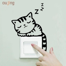 JY 20 Mosunx Business 2016 Hot Selling   Cat Wall Stickers Light Switch Decor Decals Art Mural Baby Nursery Room