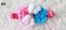 Free shipping 200pcs shabby chic headbands  babyheadband  flower headband accessory  headband