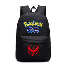 Dropshipping Poupular Game Pokemon Go Backpack Black School Bags Shoulders Bag For Young people Mochila Feminina(China)