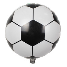18 inch Football Fan Game Party Decor Soccer Foil Balloons Children's Toys Baby Boy Shower Birthday Party Decorative Balloons