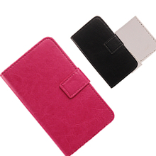 LINGWUZHE Pure Color Choose Case For Fly IQ4411 Book Design And Card Slot function Cell Phone PU Leather Cover