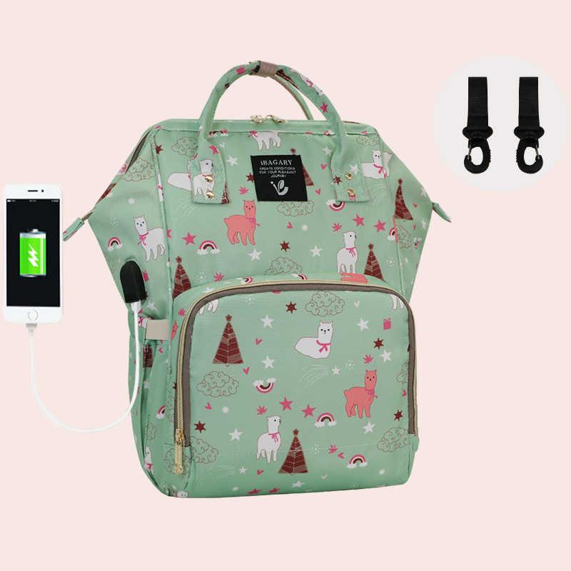 72d0e5727a97 Пеленки подгузник сумка с USB interfac traval рюкзак мумия сумка-органайзер  для мам сумки Молоко