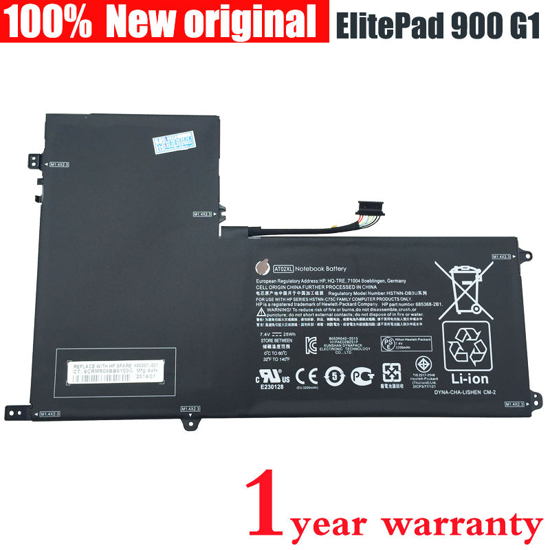 New Original AT02XL tablet battery for HP ElitePad 900 G1 HSTNN-C75C HSTNN-IB3U HSTNN-DB3U 685368-1C1 685987-001 AT02025XL<br><br>Aliexpress