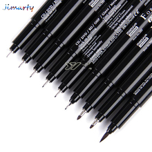 Japan Marvy Paint brush oil fine point sketch liner pen drawing needle pen hand-drawn animation model soft brush comics DP012