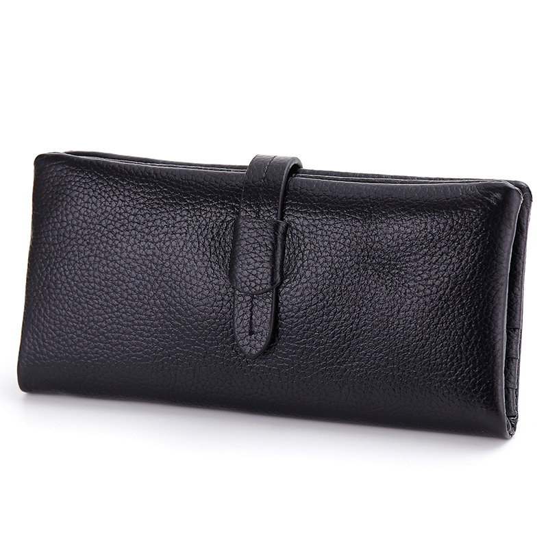 Drawstring Clutch Brand Genuine Leather Wallet Womens Fashion Clutch European and American Style Purse With Credit Card Holder<br><br>Aliexpress