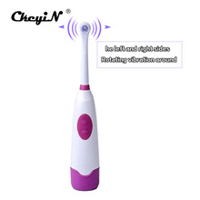 CkeyiN Ultrasonic Sonic Vibration Electric Toothbrush Waterproof Battery Operated Tooth Brushes+2Pc Replacement Head Teeth Brush(China)