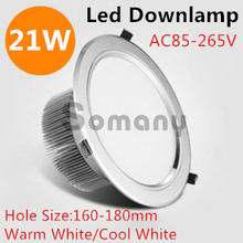 2Pcs/lot Concealed Installation For Market/Kitchen/Foyer Decor 21W Led Down Lights Warm/Cool White Imported Led Chips