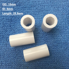 Free shipping 10pcs/lot OD3mm/ID8mm Pool cue ferrules 25.5mm Length white plastic Billiards Cue tubes Billiard accessories(China)