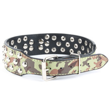 2017 Faux Leather Spiked Rivets Dog Cat Collar Large Pet Pitbull Bully Terrier S M L Dog Cat Collar New(China)