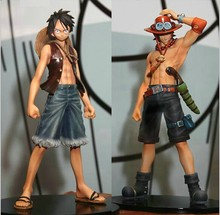 Japan Action Figure One Piece Pvc Anime Monkey.D.Luffy Portagas D Ace Figure Set Action Figure One Piece Luffy Toys Gifts