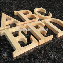 Wholesale 10cm High Wood Wooden Letters A to Z Alphabet Birthday Gift Bridal Wedding Party Home Decorations Freestaning Letter(China)