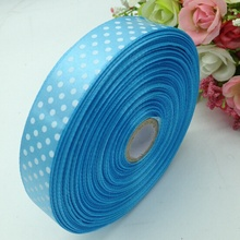 Real Hl 1 Roll (50yards) 18mm Width Printed Dots Satin Ribbon Wedding Party Decoration Crafts Making Bows Diy Accessories A937