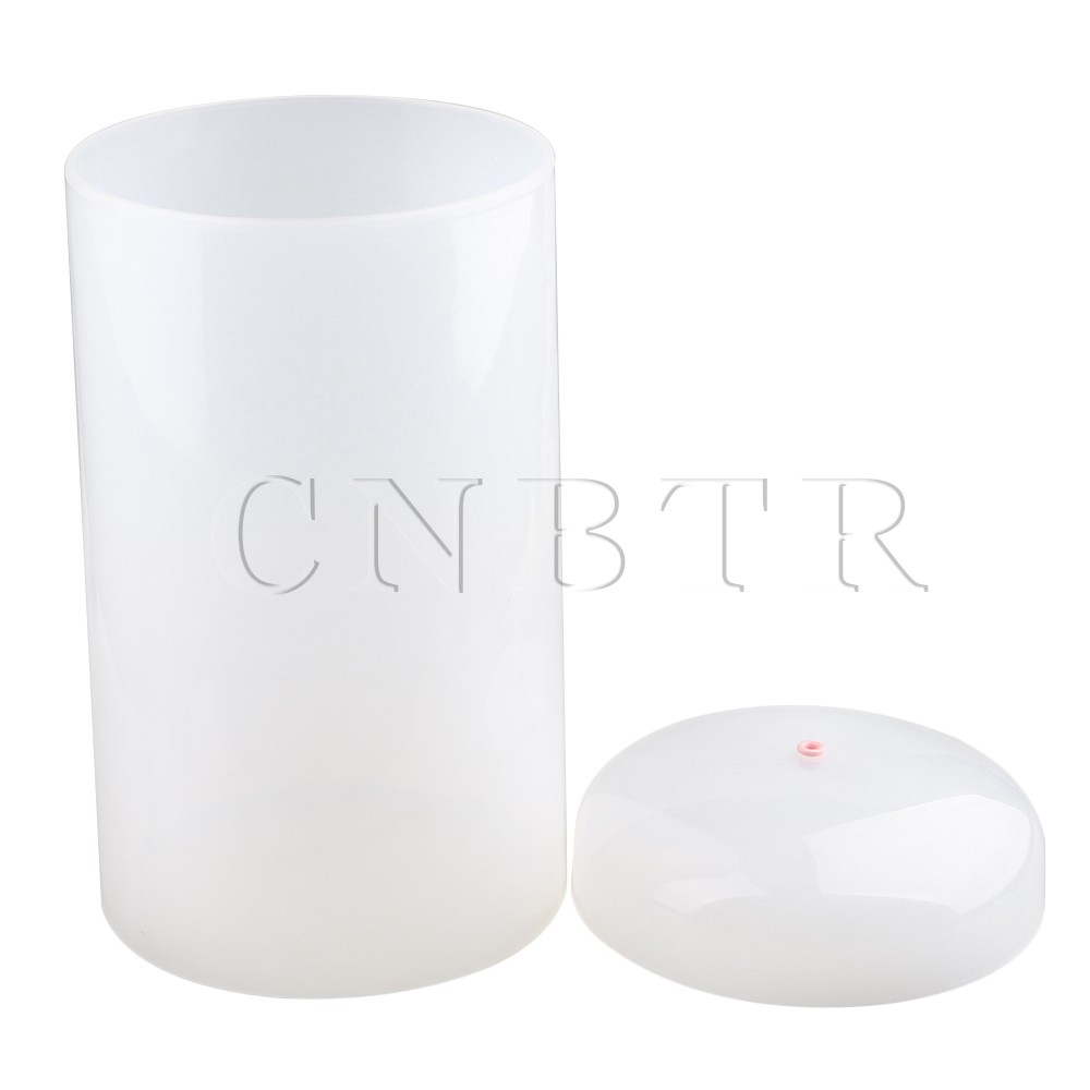 CNBTR PVC D15 x H28cm Anti-Dust Surface Smoothly Seamless Translucent Positioning Wire Cover Top of Cover with Porcelain Eye for<br>