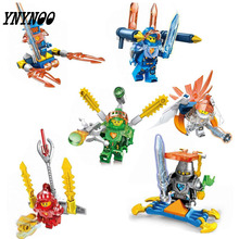 YNYNOO 8pcs Nexo Knights Castle Warrior Clay Macy Lance Balrog Building Blocks toys for children Toy Gifts Lepin