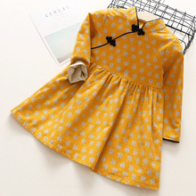 2017 new autumn item girl long sleeve chinese traditional style dress