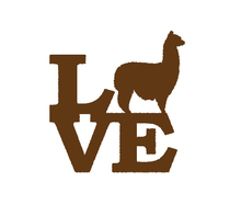 Alpaca Love Sticker for Car SUV Window Truck Bumper  Door Motorcycles Vinyl Decal Cashmere Shear Clippers Raising Docile Camel