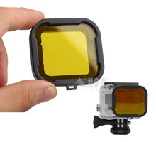 For Gopro accessories polarizer yellow color underwater diving UV lens filter for GoPro hero 4 3+ mini camcorder