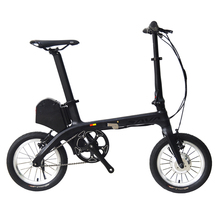 SAVA E0 14''Carbon Fiber Frame Folding Electric Bicycle 36V / 180W E-Bike Fixed Gear Single-Speed Urban Track Mini City Foldable(China)