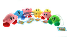 Kirby Plush Keychains Super Mario kirby Plush Doll Toys 6cm Pendant 6 styles 6pcs/lot