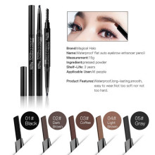5 colors Waterproof Eye Brow Eyeliner Eyebrow Pen Pencil With Brush Makeup Cosmetic Tool(China)