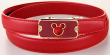 Fancy Design Girls Genuine Leather Belt Teddy Bear Mickey Shaped Buckle Cowhide Leather Straps 2017 Newest Brand Name Belts