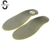 Senza Fretta Soft Arch Support Foot Orthotics Shoe Insoles Pad High Elasticity Inner Sole Pad 3D Premium Orthotic Insoles X0571(China)