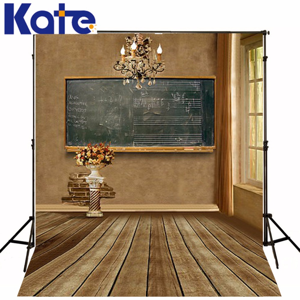 200x300cm Kate Indoor Photo Background Flowers Classroom Blackboard Photography Backdrops Photography Backdrop 3399 LK<br>