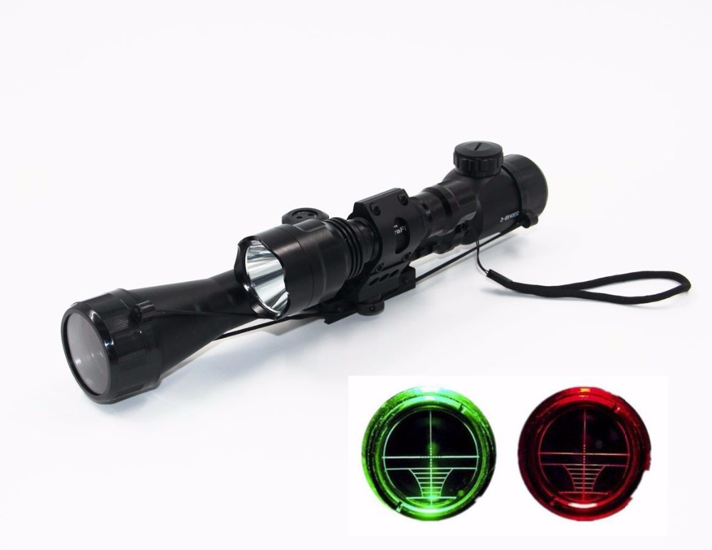 Airsoft Hunting Compact Combo Sight 3-9x40EG Rifle Scope with CREE T6 LED Tactical Optics Flashlight 5 Mode C8 Torch Flash Light<br><br>Aliexpress