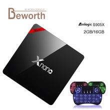 Xnano X96 Pro Android TV Box Amlogic S905X Quad Core Set Top Box 2G+16G Android 6.0 OS Bluetooth 4.0 4K 3D Smart Media player(China)