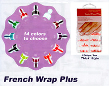 Freeshipping - French Wrap Plus Thick / french nail wrap tips - 14 color choices 128 tip /set(China)