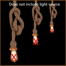 1m/ lot Vintage Rope Pendant Light Lamp  Loft Creative Personality Industrial Lamp Edison Bulb American Style For Living Room