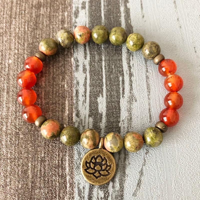 Red Coral Mala Energy Bracelet Spiritual Bracelet 108 Wrap Bracelet Mala Bracelet Bohemian Wrist Mala Lotus Flower Yoga Bracelet